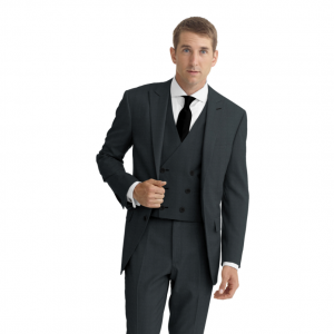 Modern Three-Piece Suit w/Marzoni Cloth - Ezra Cayman Bespoke Couture